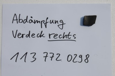 Abdämpfung Verdeck rechts  für W113, Art.-Nr. 1137720298