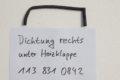 Dichtung unter Heizklappe rechts für W113, Art.-Nr. 1138310842
