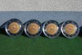4er-Satz Raddeckel Farbe orangebeige für W115 /8