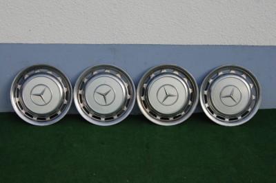 Raddeckel weiß 4er-Satz, passend für Mercedes-Benz W107/108/109/113/114/115/123