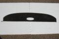 Hutablage Farbe schwarz, mit Lautsprecherloch in der Mitte, für W115