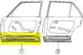 Türboden vorne links, verwendbar bei W123-Limousine und W123-T-Modell