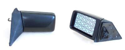 Außenspiegel links, blau, manuelle Einstellung, plan