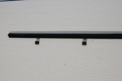 Fensterschachtdichtung mit 2 Halteklammern für W115, W123-Limousine und T-Modell, W126-Limousine, Art.-Nr. Vg126 725 0365