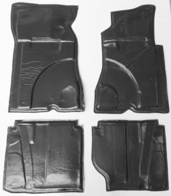 Schaumstoff-Teppich-Unterlagen für W123 Limousine, Coupé, Kombi, Paar vorne links und rechts