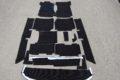 Komplett-Teppichsatz, Zweitonschlinge Farbe schwarz für W114/115 /8, Limousine und Coupé