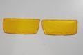 Nr. 4.2 Gelbe Nebelscheinwerfer-Lichtscheiben-Paar für Mercedes-Benz W115, geriffelt