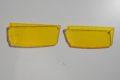 Nr.4.1 Gelbe Nebelscheinwerfer-Lichtscheiben-Paar für Mercedes-Benz W115, glatt