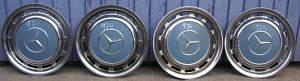 Raddeckel blau 4er-Satz, passend für Mercedes-Benz W 107/108/109/113/114/115/116/123