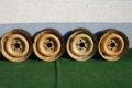 4er-satz Stahlfelgen 5,5 J x 14' passend auf W114, W115, W123 Art.Nr. 1154001302, gelb