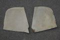 Paar Fußraumabdeckungen links und rechts, beige-pergament