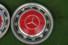 Raddeckel signalrot 4er-Satz, passend für Mercedes-Benz W 107/108/109/113/114/115/116/123